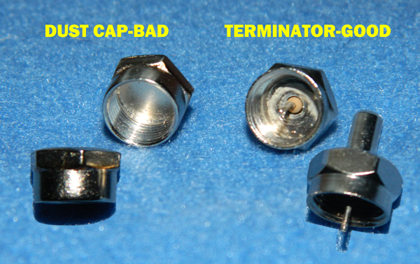 Coax Cable Connector Termination : Tip terminate those unused ports the solid signal