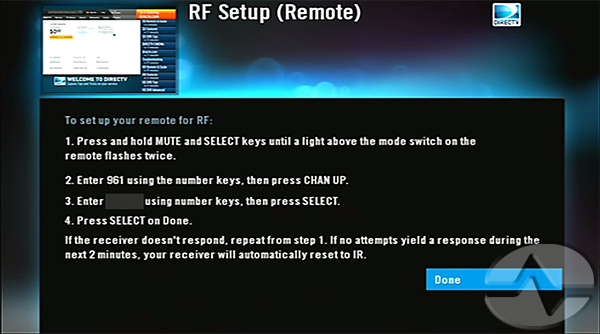 How To Do It Set Up A Directv Receiver To Work In Rf Mode The