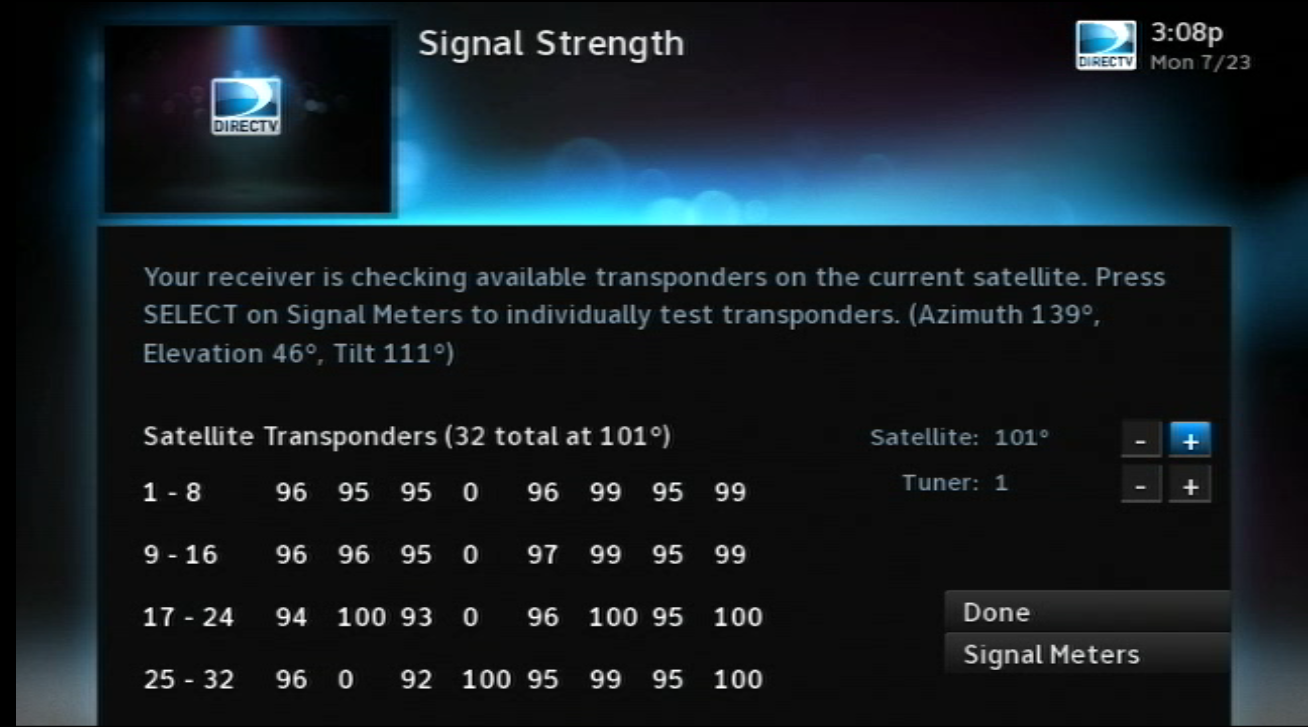 Check the Signal Strength on Your DIRECTV Satellite Dish