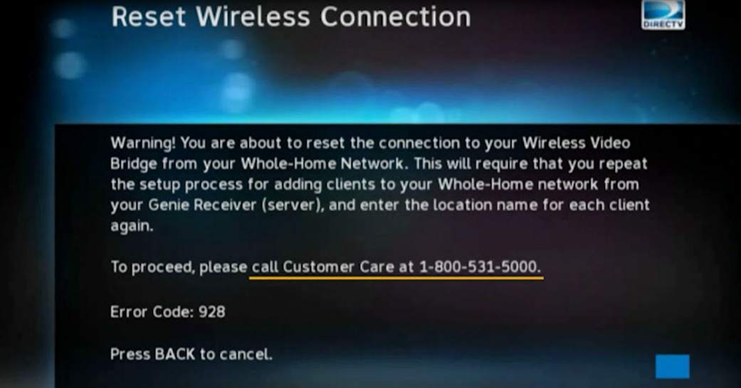 Important Note Directv Wireless Genie Client Reset Instructions