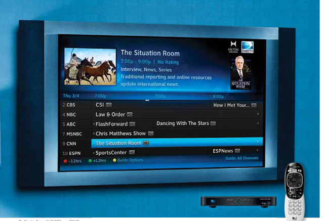 DIRECTV Residential Experience makes hotel TVs cool again