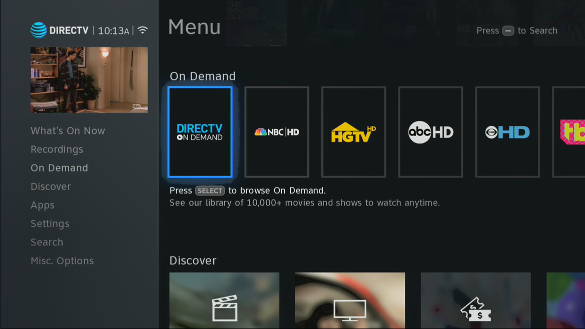 How to get to DIRECTV On Demand with the new Genie menus