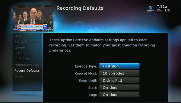 set recordings more easily with directv record defaults the rh blog solidsignal com TiVo Remote DirecTV TiVo Remote