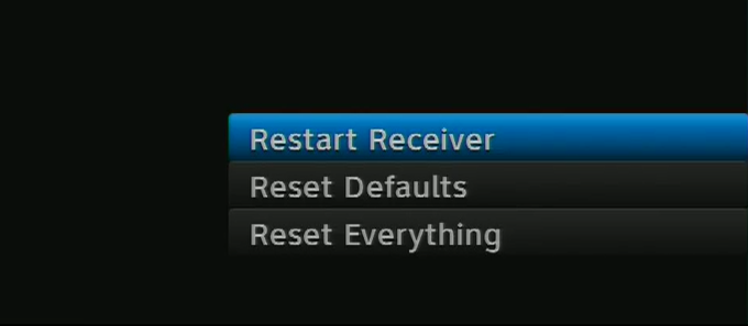 What do all the reset options mean on a DIRECTV receiver? - The