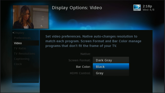 how can you change the bar color on your directv sd programs the rh blog solidsignal com Time Warner Cable Guide directv white guide screen