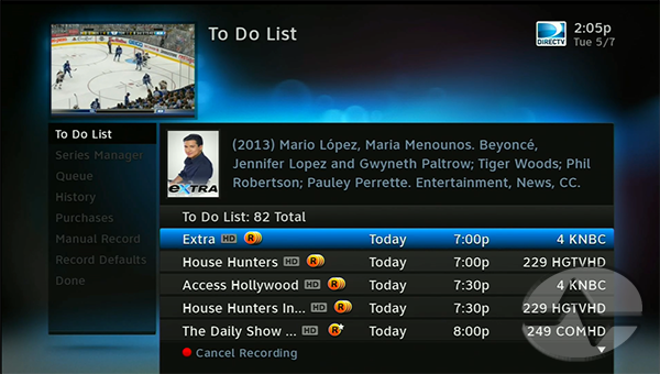 Tip Control Your Directv Dvr With Menu Shortcuts The