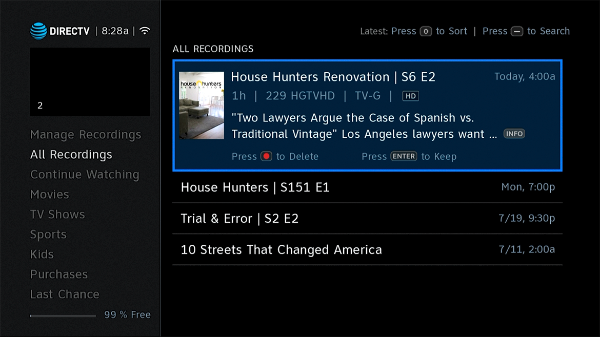 UPDATED FOR 2018: Set record defaults for DIRECTV - The
