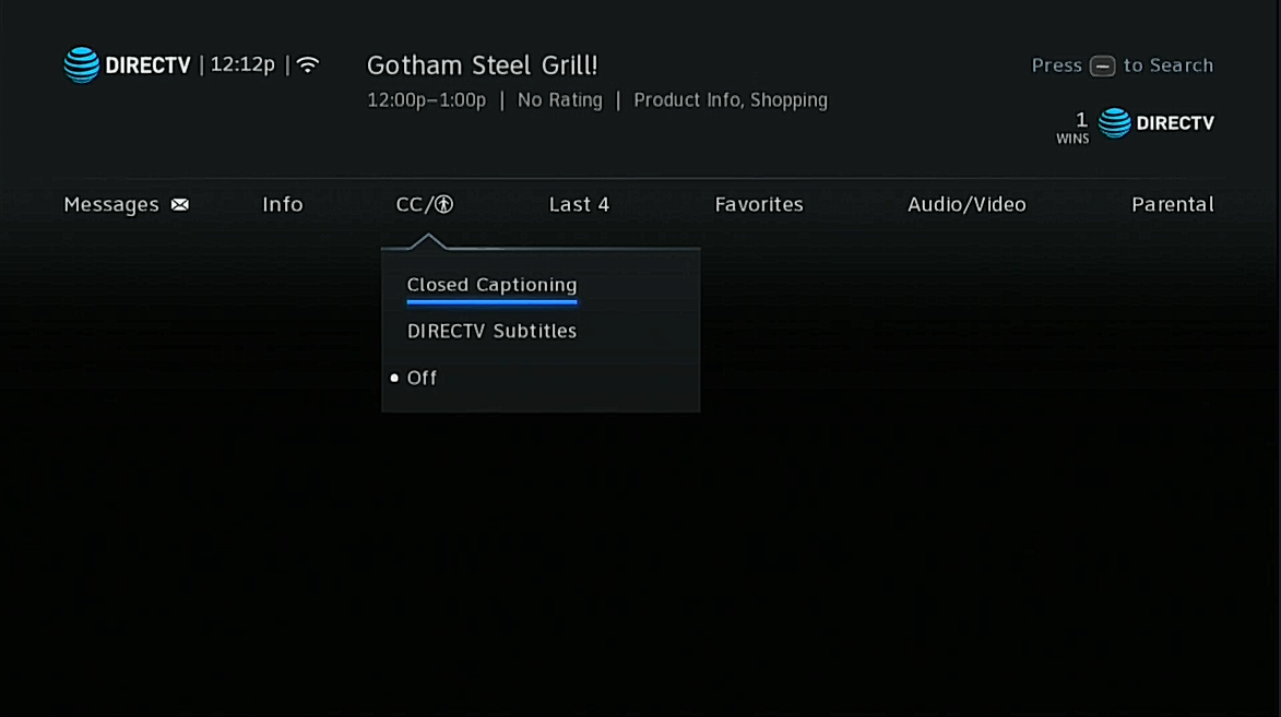 Enabling Closed Captioning On A Directv Receiver Even One With The New Genie Menus Is Really Easy